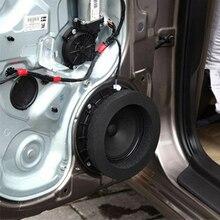 4pcs 6.5inch Pad Cotton Car Speaker Ring Sound Insulation Accessories Auto Audio Soundproof Door Trim Self Adhesive Bass