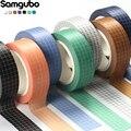 10M Reine Farbe Grid Washi Band Set Masking Tape Journaling Liefert Verwaschen Band Organizer Washitape Schreibwaren Aufkleber Sammelalbum
