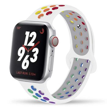 for apple watch series 4 band real carbon fiber watch straps for apple watch series 1 2 3 iwatch 38 4mm men s wrist bracelet Pride Edition Strap For apple watch band 44mm 40mm 42mm 38mm for iwatch silicone bracelet for apple watch series 4 3 5 SE 6