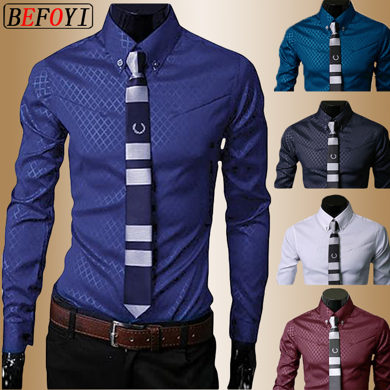 Hot Sale Men's Shirt Long Sleeve 2020 New Arrival Fashion Men Argyle Luxury Business Style Slim Fit Striped Casual Dress Shirt