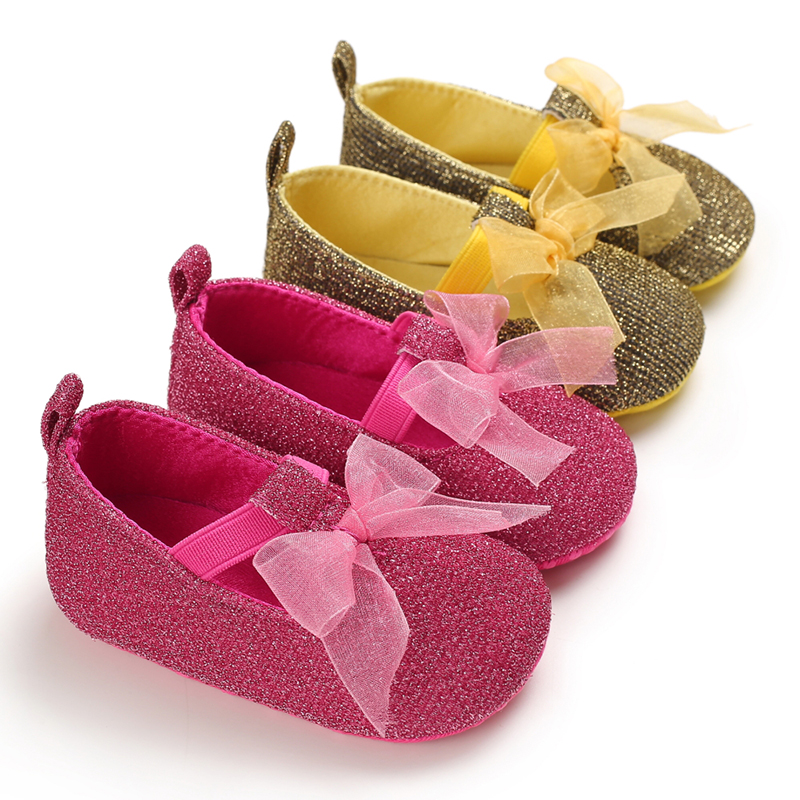 Baby Girl Shoes Breathable Bowknot Anti-Slip Casual Sneakers Toddler Soft Soled Walking Shoes First Walkers Shoes
