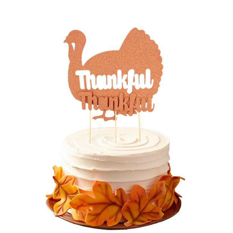 Tremendous 2 Pcs Set Cute Happy Thanksgiving Day Thankful Turkey Cupcake Funny Birthday Cards Online Unhofree Goldxyz