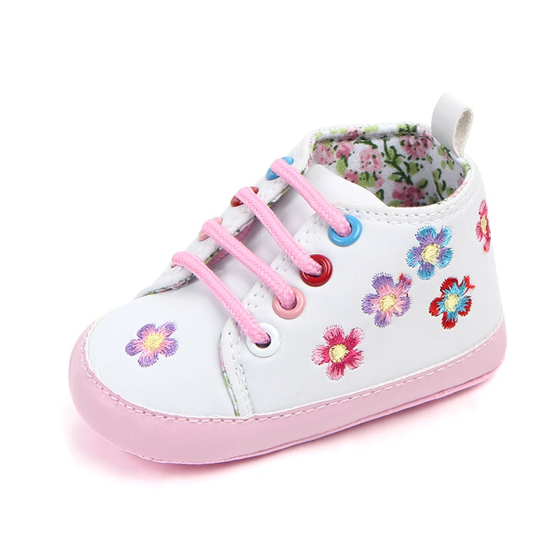 Infant Baby Flower Baby Shoes Kid Boy Girl Soft Bottom First Walker Anti-Slip Sole Casual Toddler Baby Sneaker