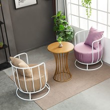 Hotel Small Coffee Negotiation Chair Coffee Table Table Integrated Fabric Sofa Chair Iron Leisure Sectional Sofa Bed Furniture panana rattan sofa chair table set of 4 hot sale wicker garden furniture coffee table rattan sofa chair stool fast delivery