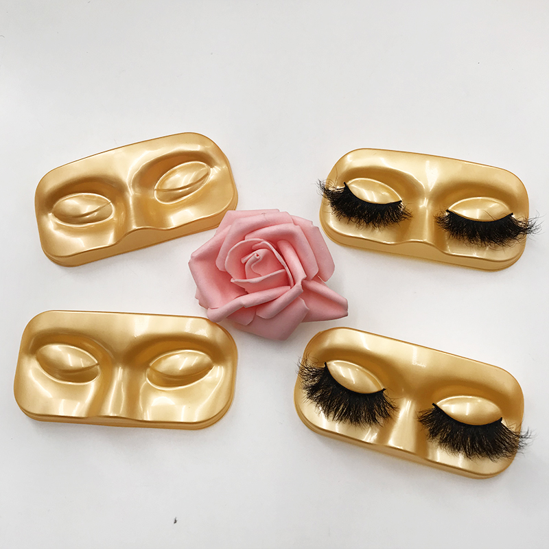 Eyelash Face Shape Tray Gold Tray Lash Packing Tool Holographic Lash Box