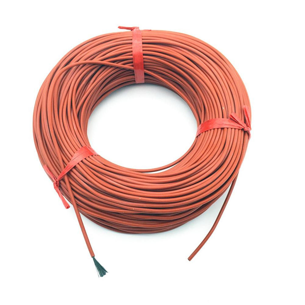 10M 12K 33ohm/m Silicone Rubber Heating Cables Floor Heating Silica Gel Carbon Fiber Wire 220V 150w Home Farm Heating Fittings
