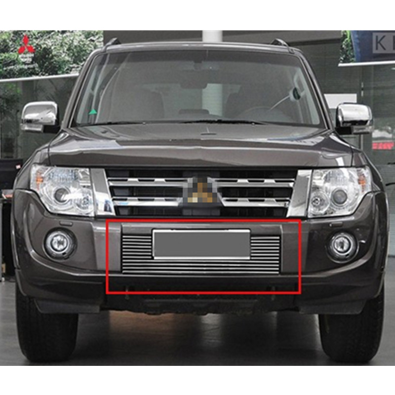 For <font><b>Mitsubishi</b></font> <font><b>Pajero</b></font> <font><b>2012</b></font> 2013 2014 2015 High quality stainless steel Front Grille Around Trim Racing Grills Trim Car-styling image