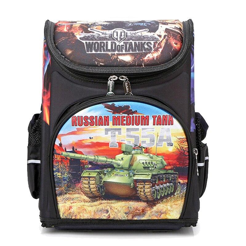 2019 Airplane Tank Pattern School Backpack For Boys Cartoon Orthopedic School Bag Children Backpacks Mochila Infantil Grade 1-3