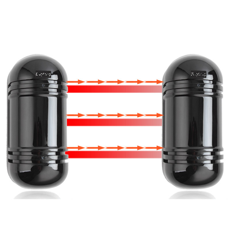 100 Distance Outdoor Wired Beam Detector Infrared Waterproof and lightning protect for Home Alarm System 2 infrared beams