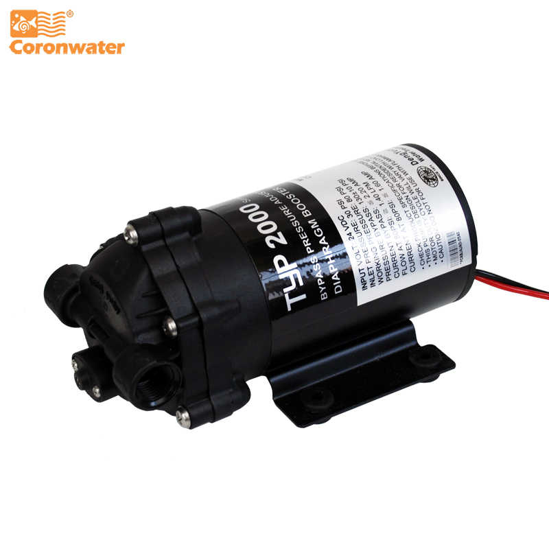 Coronwater 200gpd Water Filter RO Booster Pump for Reverse Osmosis System Pressure Increase 2000NA