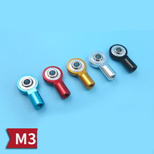 Metal M3 Ball Head Buckle Universal 3mm Ball Joint Linkage Pushrod Connector Rod Mini Pull-rod End for RC Boats/Cars Connecting hot 2pcs m5 m6 m8 m10 ball head rod end joint bearing set white zinc coated right hand bearings for auto car ball connecting rod