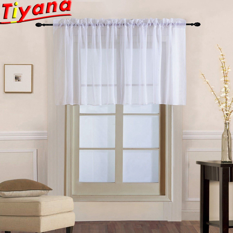White/Red/Purple Short Curtains For Kitchen Solid Roman Blind White Sheer Tulle For Bay Window Hot Sales WP184S#20