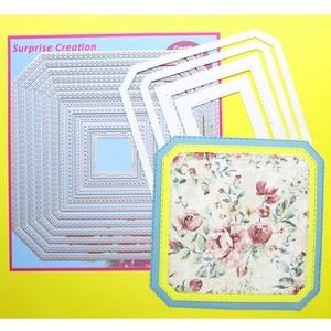 Image 4 - 2 세트 대형 커팅 다이 다각형 직사각형 & 스퀘어 Cardmaking & Scrapbooking DIY Craft stencil