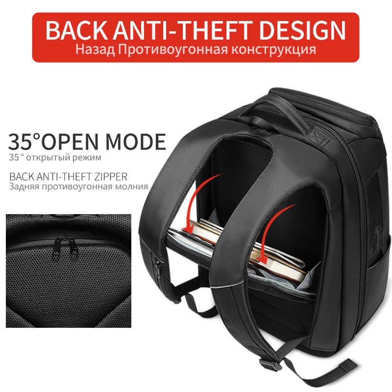 EURCOOL seyahat sırt çantası erkekler çok fonksiyonlu büyük kapasiteli erkek Mochila çanta USB şarj portu 17.3 inç Laptop okul sırt çantaları