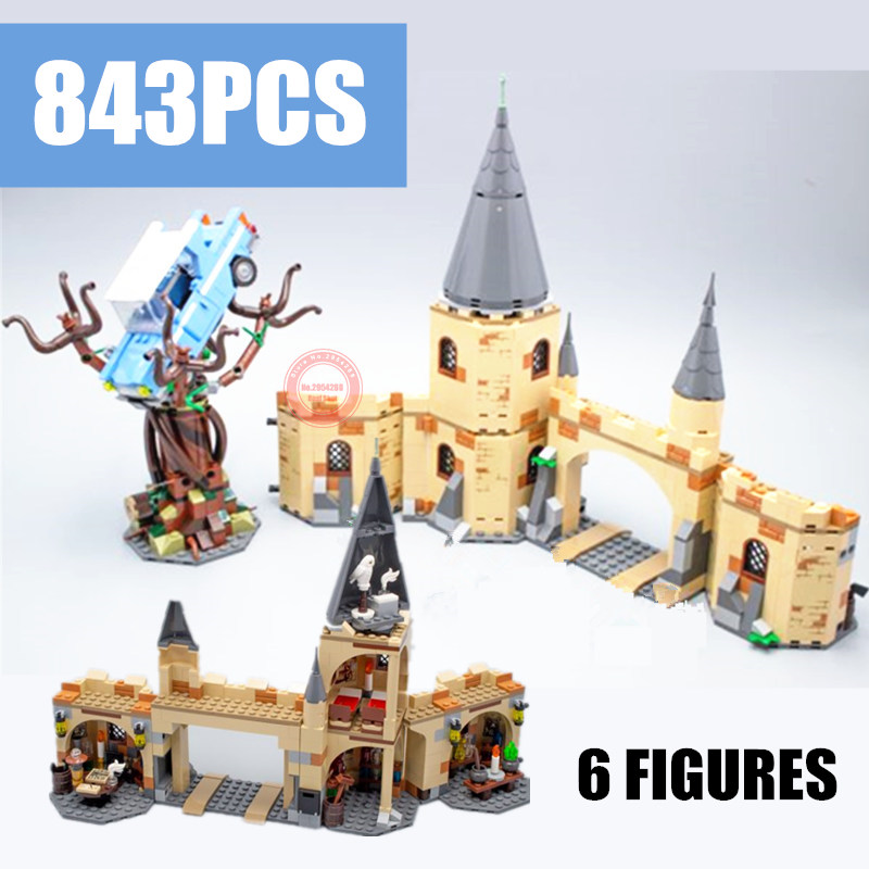 New MOC Castle House Fantastic Beasts Fit Legoings Technic Power Functions Figures Potter Building Block Brick Toy Gift Birthday 33