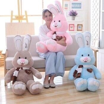 Cute rabbit plush toy pillow doll sleeping Lover present Giant Easter Bunny plush doll love scarf Rabbit christmas gift