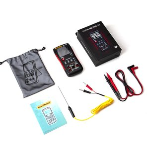 Para aneng q1 multímetro digital 9999 contagem manual faixa ac dc amplificador de tensão ohm frequência capacitância temperatura tester