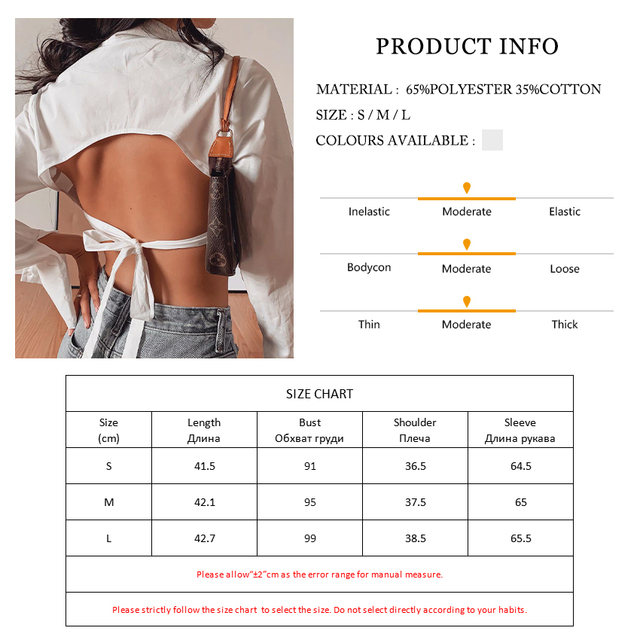 Clacive Fashion White Turn Down Collar Women'S Shirt Casual Long Sleeve Lace-Up Ladies Blouses Elegant Backless Female Shirts 6