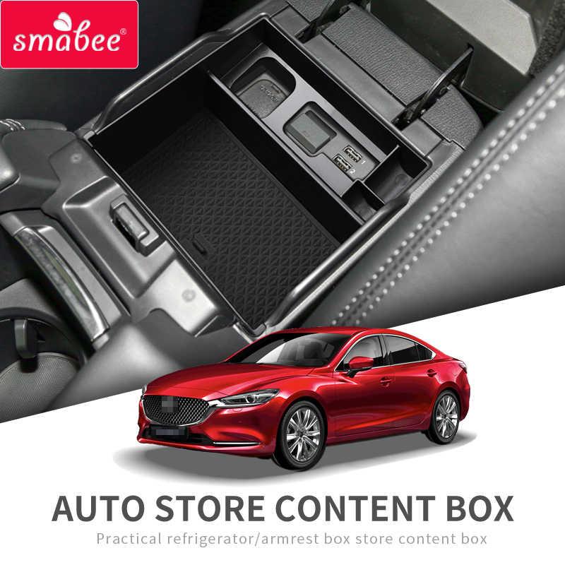 For Mazda 6 Atenza 2018-2019 ABS Interior Armrest Storage Box Organizer Holder