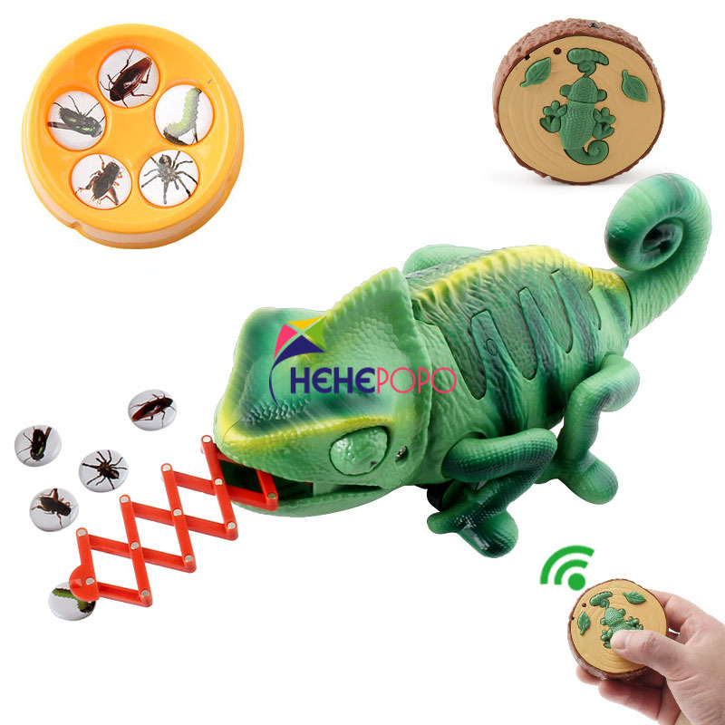 RC Animals Toys RC-Chameleon Pet Intelligent Toy Remote Control Toy Electronic Pet Model Reptile Animals Robot for Kid