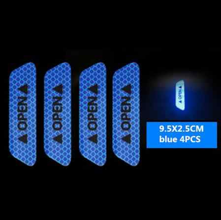 4pcs 차량 문 안전 anti-collision 경고 반사 스티커 메르세데스 벤츠 W202 W220 W204 W203 W210 W124 W211 AMG CLK