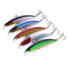 5PCS/bag 5 colors 8cm 8.5g Fishing Lure Minnow Hard Bait with 2 Hooks Wobblers Tackle Isca Pesca 3D Eyes
