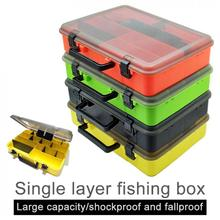 40.5 x 28.5 x 8.5cm Fishing Tackle Boxes Fishing Reel Line Lure Tool Thicken Large Multifunction Storage Box