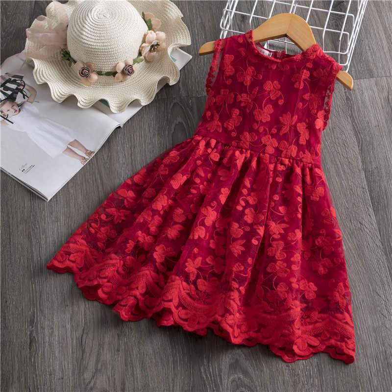 Niñas vestido 2019 nuevo de marca de verano Niñas Ropa de encaje y diseño de flores bebé niñas vestido de los niños vestidos de niñas Casual usar 3 8 Y