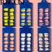 Tipsy – Ensemble de faux ongles détachables, produit à presser avec de la colle, pour dessins, bâtonnet de forme ovale, set d'affichage transparent, couverture complète, artificiel, 100 tablettes,