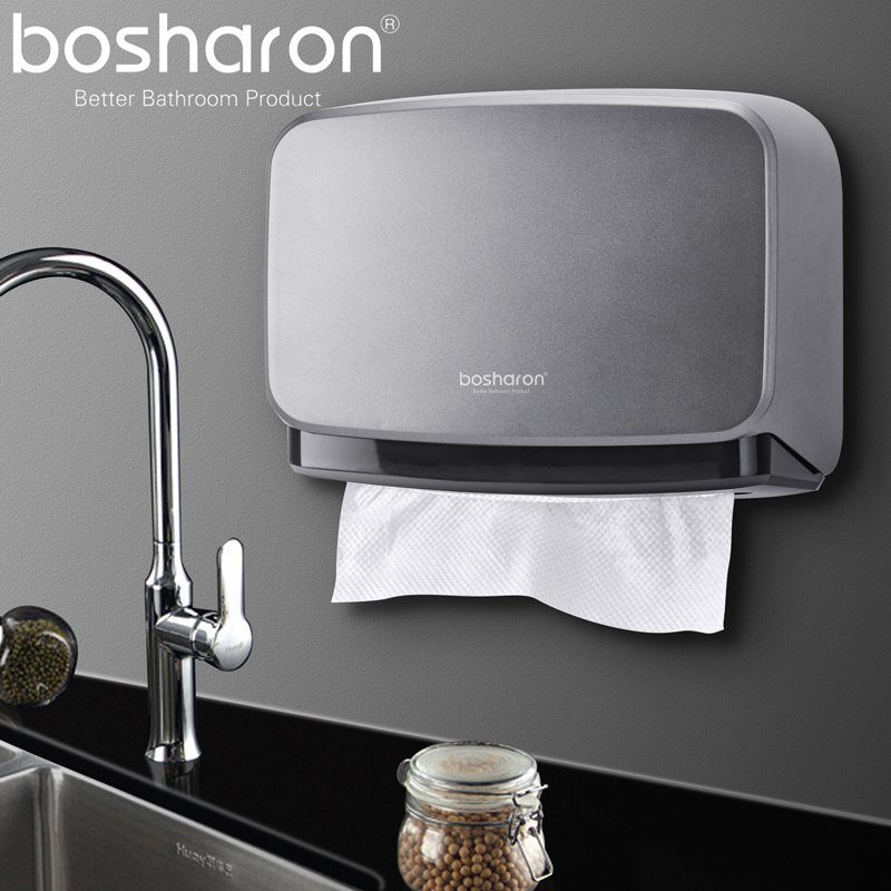 Bosharon Paper Towel Dispenser Wall Mounted Multifold Trifold Paper Towel Dispensers For Office Home Kitchen Commercial Usage