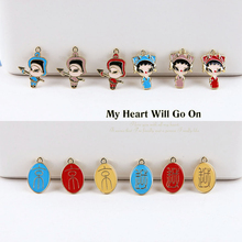 2 pcs hot sale chinese style alloy creative ancient soldiers cartoon text statement earrings diy jewelry accessories