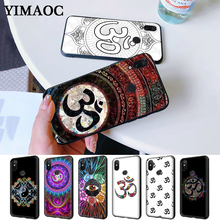 Floral Om Yoga Hindu Aum om yaga Luxury Silicone Case for Redmi Note 4X 5 Pro 6 5A Prime 7 8