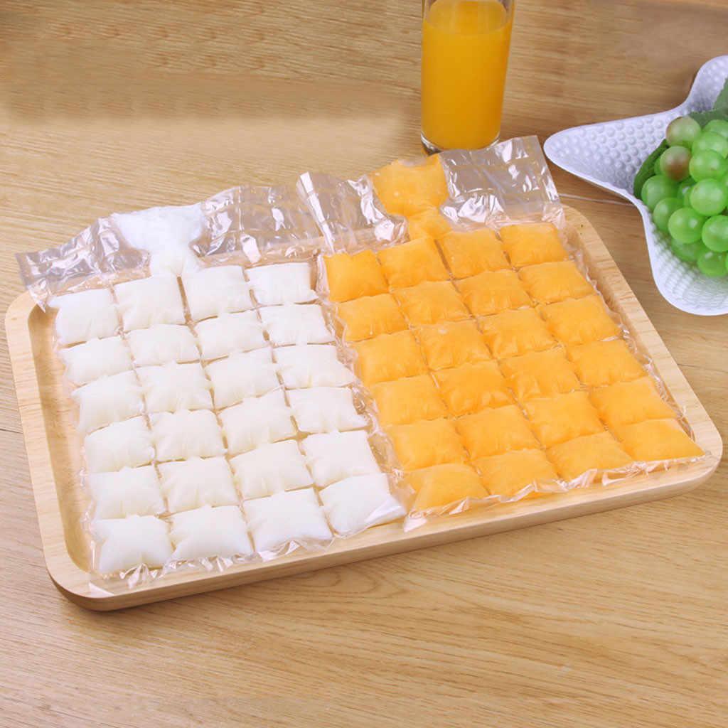 البلاستيك الجليد حقيبة لمرة واحدة واضحة المصاصة أكياس الجليد كريم أكياس تخزين المشروبات الجليد مكعب اكسسوارات المطبخ 9X30 سنتيمتر