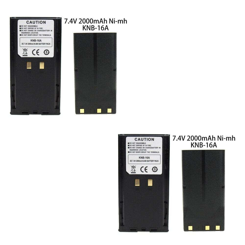 2X 7.4V 2.0Ah KNB-17 KNB-16A Li-Ion Battery For Kenwood TK-190 TK-280 TK-380 TK-290 WalkieTalkie