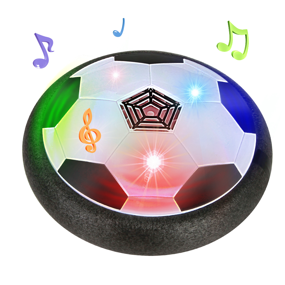 Hover Soccer LED Light Flashing Air Power Soccer Luminous Ball Disc Sports Educational Toys Gift For Kids Fun Ball Game Set