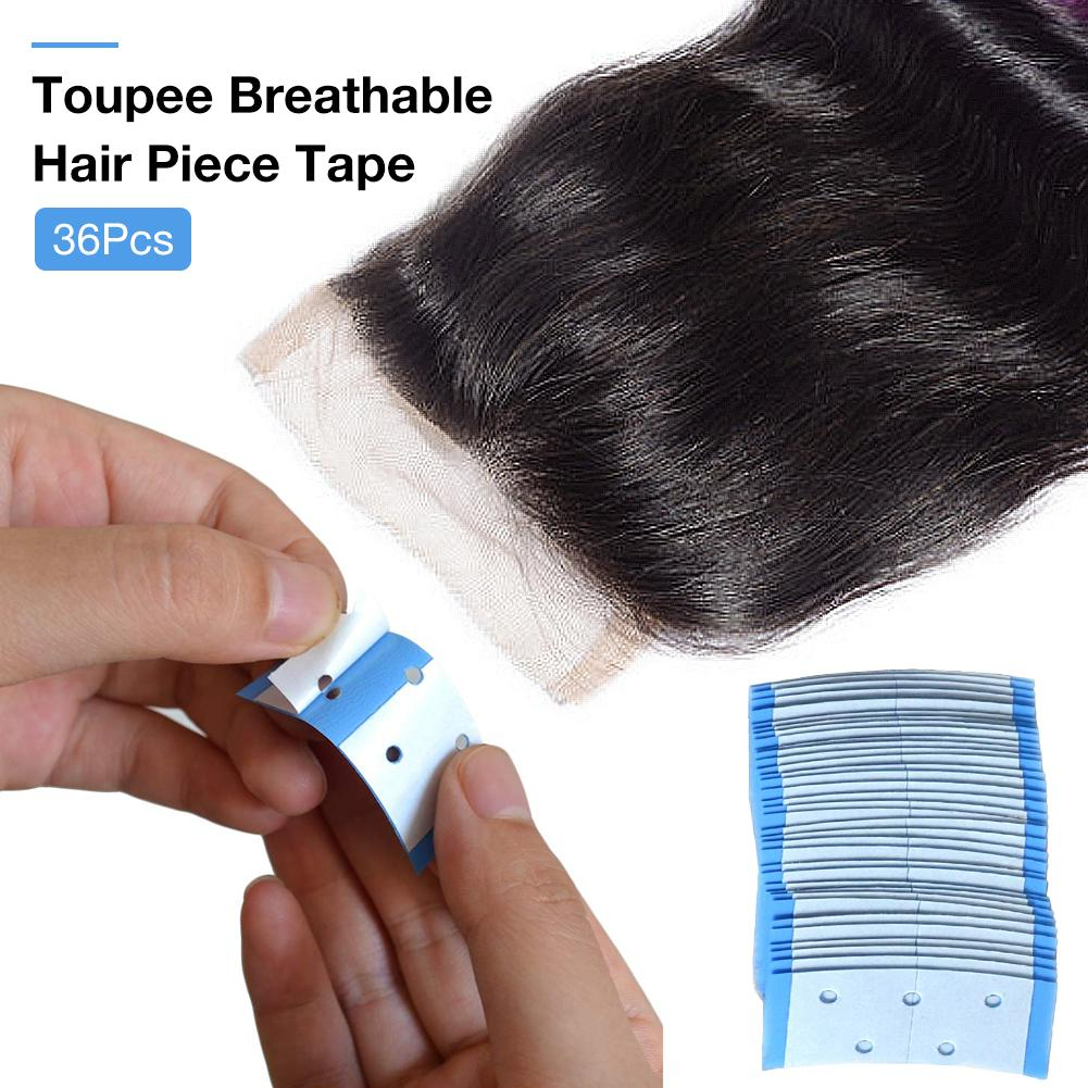 36pcs Ultra Hold Mini's Hair System Double Sided Adhesives Tape Tabs For Tape Extension/Toupee/ Lace Wigs/ Breathable Waterproof