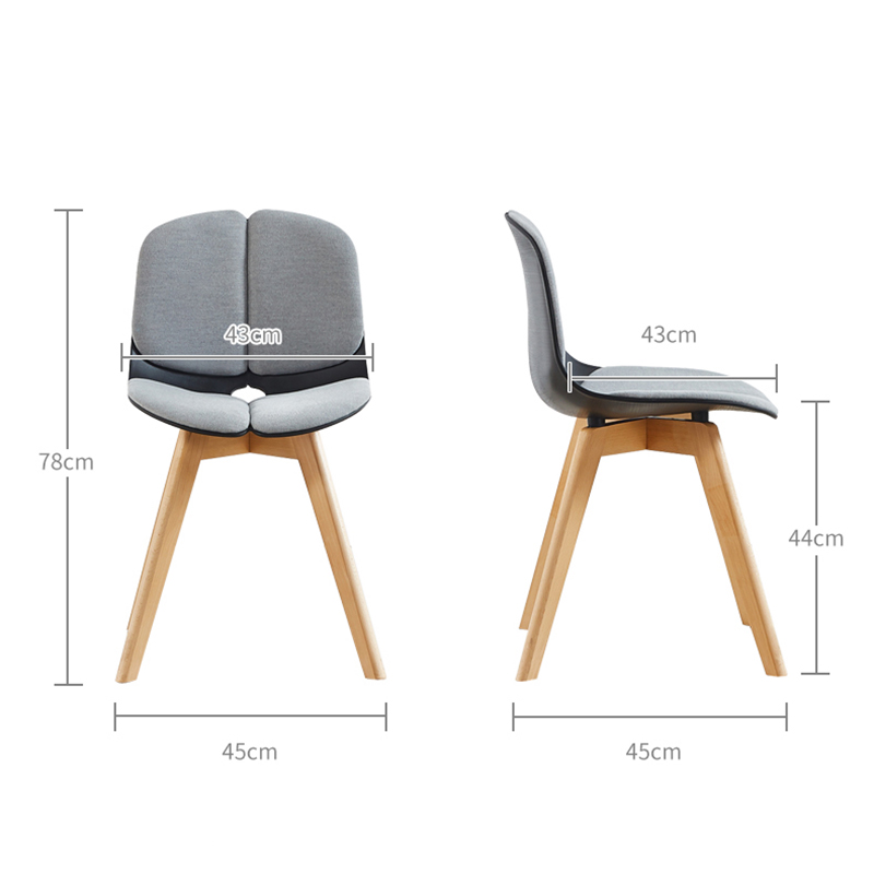 Nordic Solid Wood Plastic Chair Restaurant for Dining Chairs Chinese Wood Working Modern Chair Study Business Chair louis chair