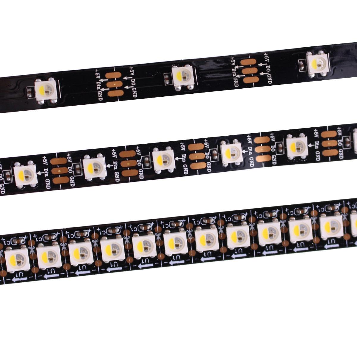 Лучшая цена 1 м 5 м адресуемых SK6812 RGBW RGBWW светодиодные полосы нейтральный белый WWA водонепроницаемый 30/60/144 светодиодов/pixles/m 5В аналогичный ...