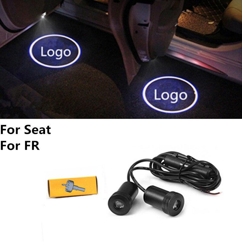 2x led luz da porta do carro logotipo da porta do carro projetor a laser luz fantasma sombra luz para seat ateca leon 1 mk3 ibiza 6j arona fr kia
