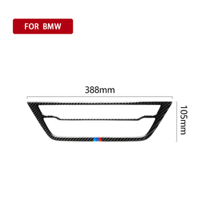 Image 2 - Car Interior Carbon Fiber Decals Auto Air Conditioning CD Panel Stickers Car Styling for BMW 528i 530i 540i 5 Series G38 2018