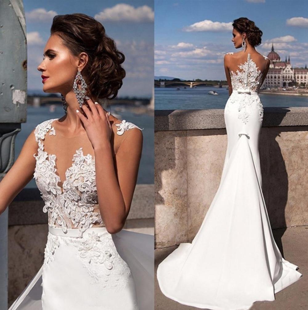 Latest Lace Appliques Haute Couture Ladies Sexy Mermaid Celebrity Dress Elegant Long Tail Evening Dress