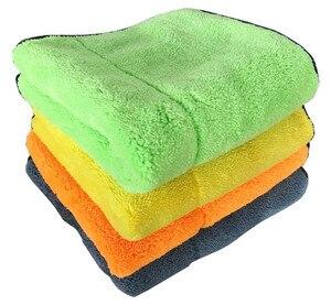 Image 3 - Microfiber Handdoek Car Care Polijsten Wassen Handdoek Pluche Wassen Drogen Handdoeken Dikke Pluche Coral Fluwelen Auto Detailing Cleaning Doek