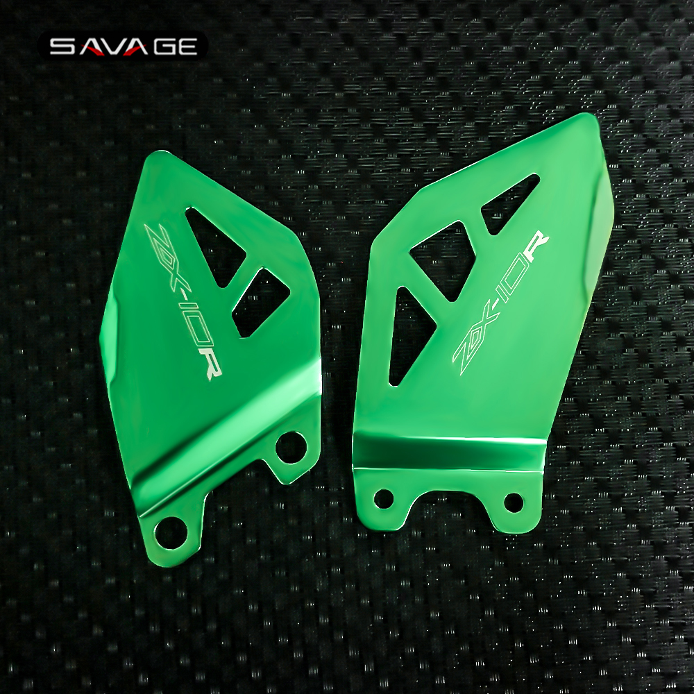Foot Peg Heel Plates Guard For KAWASAKI ZX10R ZX10RR 2011-2020 19 18 Motorcycle ZX-10R ZX-10RR Footrest Hanger Pedal Protector