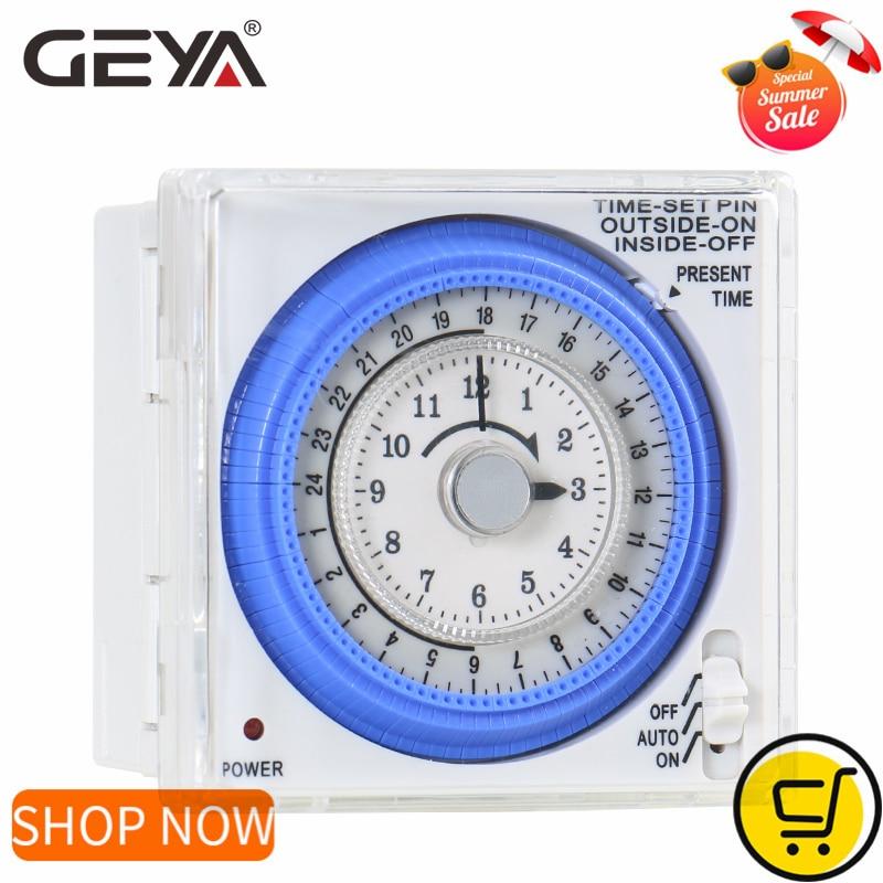 GEYA TB37 Mechanical Din Switch Timer 110V OR 220V 15 Minute Adjustable Timer Manual or Automatic Control