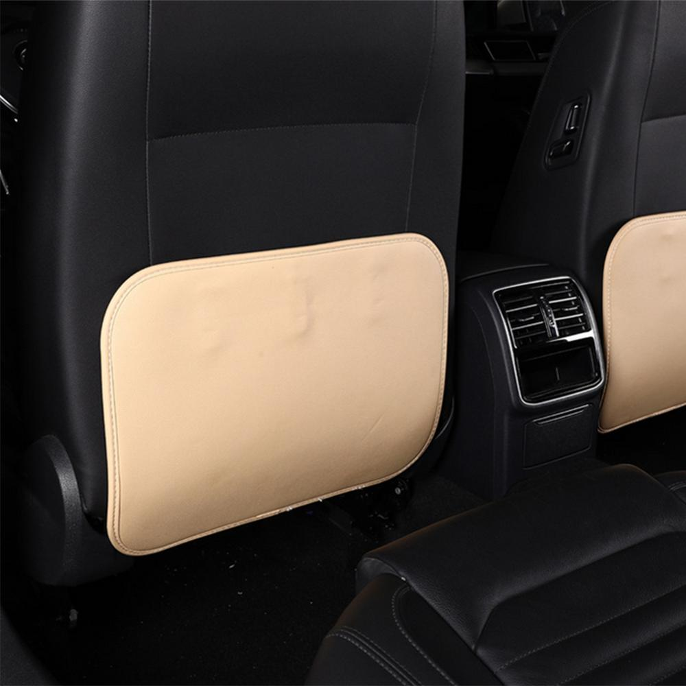 Car Seat Back Cover Protector Anti-kick Clean Mat Wear-proof Leather Mat For Kid