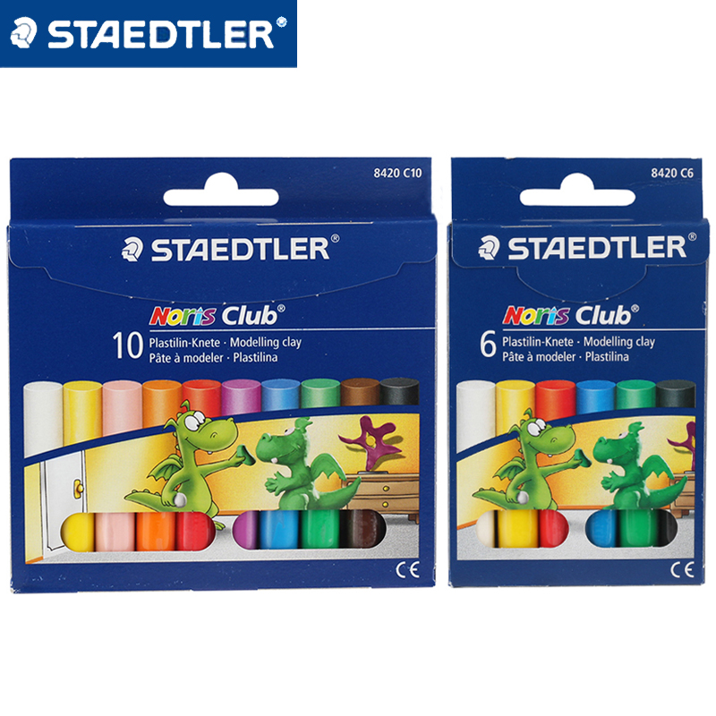 STAEDTLER 8420 C6 6 Color Color Plastilin-knete Modelling Clay Set DIY  Plasticine Putty Clay Education  Teaching Tools