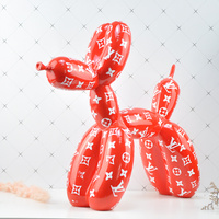 Jeff Koons American Art Resin Craft Shiny Balloon Dog Statue Home Decoration Shiny Craftwork Home Decoration Accessories