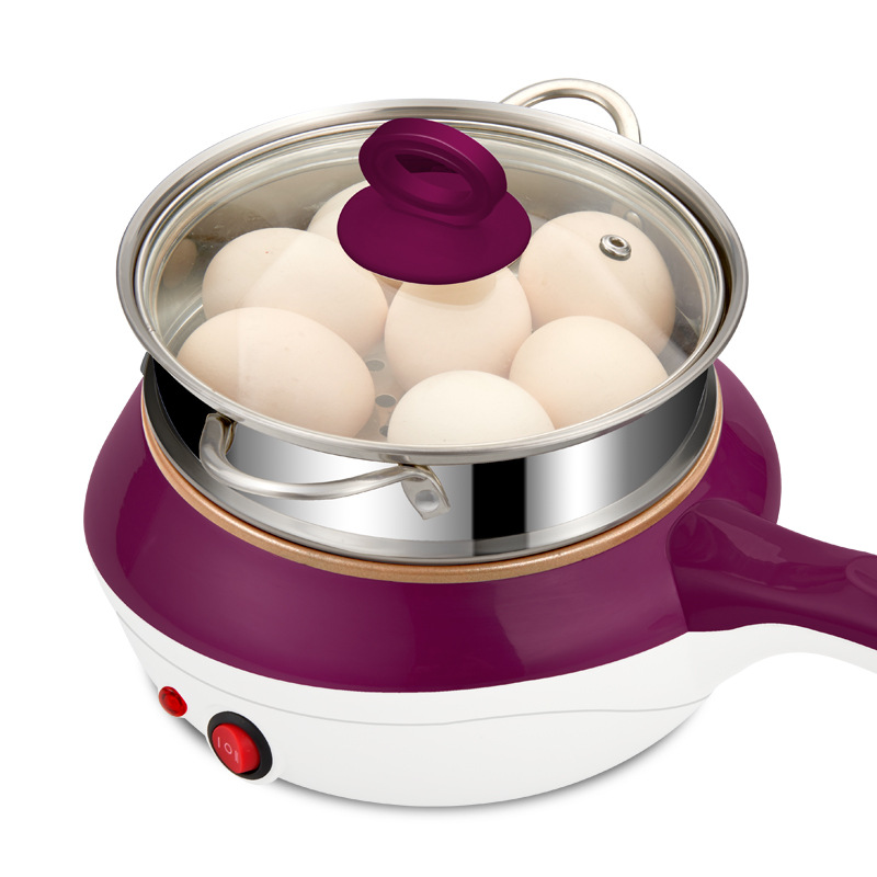 2 layer Multi function Mini Electric Cooker Stainless Steel Steamer Fryer Pan Soup Maker Mini Cooking