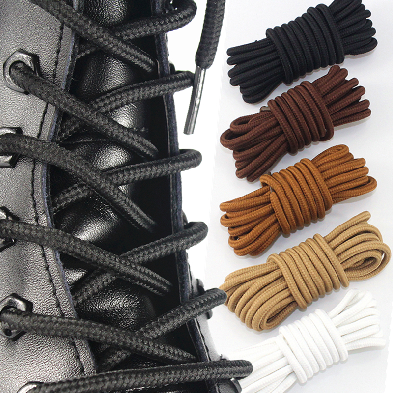 1 Pair Classic Solid Round Shoelaces Durable Polyester Shoe Laces Boot Laces Sneaker Shoelace 21 Colors 70cm 90cm 120cm 150cm