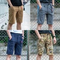 Sector Seven Men New Shorts Summer Casual Slim Quick Dry Elastic Shorts Tactical Knee Length Solid Male Short Pants
